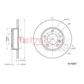 Bremsscheibe Bremsscheibendicke: 12mm, Lochanzahl: 5, Ø: 286,0mm mit OEM-Nummer 6757750