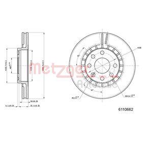 Bremsscheibe Bremsscheibendicke: 24mm, Lochanzahl: 6, Ø: 255,7mm mit OEM-Nummer 90 487 402