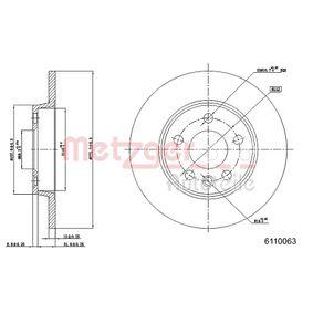 Bremsscheibe Bremsscheibendicke: 12,0mm, Lochanzahl: 5, Ø: 279,8mm mit OEM-Nummer 701.615.601A