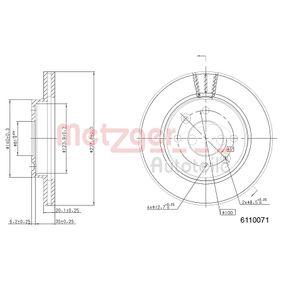 Bremsscheibe Bremsscheibendicke: 20,0mm, Lochanzahl: 4, Ø: 238,0mm mit OEM-Nummer 77007-56572