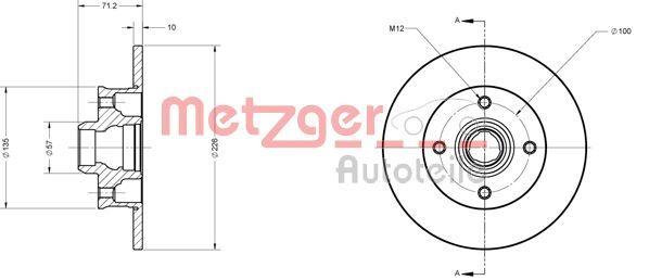 Bremsscheiben 6110087 METZGER 6110087 in Original Qualität