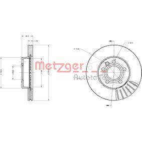 Bremsscheibe Bremsscheibendicke: 24mm, Lochanzahl: 5, Ø: 279,8mm mit OEM-Nummer 7D0 615 301 A