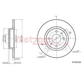 Brake Disc 6110124 PUNTO (188) 1.2 16V 80 MY 2004