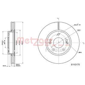Brake Disc Brake Disc Thickness: 26mm, Num. of holes: 5, Ø: 280mm with OEM Number 51712 3K000