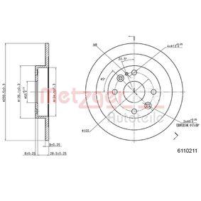 2005 Mazda MX 5 NB 1.6 16V Brake Disc 6110211