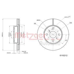 Bremsscheibe Bremsscheibendicke: 22mm, Lochanzahl: 4, Ø: 254,9mm mit OEM-Nummer 43512 12550