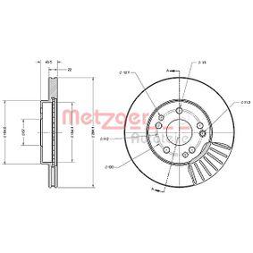 Bremsscheibe Bremsscheibendicke: 21,9mm, Lochanzahl: 5, Ø: 284,1mm mit OEM-Nummer 124.421.1612