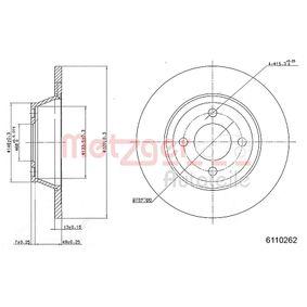 Bremsscheibe Bremsscheibendicke: 13,0mm, Lochanzahl: 4, Ø: 279,7mm mit OEM-Nummer 8A0 615 301