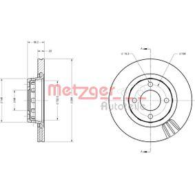 METZGER Bremsscheibe 6110305 für AUDI COUPE (89, 8B) 2.3 quattro ab Baujahr 05.1990, 134 PS