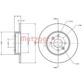 Bremsscheibe Bremsscheibendicke: 12mm, Lochanzahl: 4, Ø: 280,3mm mit OEM-Nummer 7701 207 227