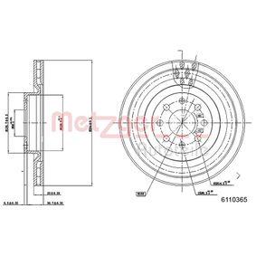 Disco de freno 6110365 GRANDE PUNTO (199) 1.6 D Multijet ac 2013