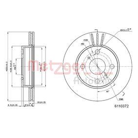 Bremsscheibe Bremsscheibendicke: 18mm, Lochanzahl: 4, Ø: 235mm mit OEM-Nummer 43512 52050
