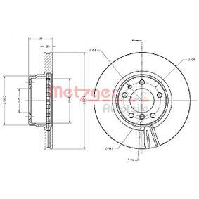 Bremsscheibe Bremsscheibendicke: 28,0mm, Lochanzahl: 5, Ø: 315,7mm mit OEM-Nummer 34116757753
