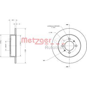 METZGER Спирачни дискове задна ос, плътен, Кръстообразен срез, с покритие