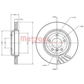Bremsscheibe Bremsscheibendicke: 21,9mm, Lochanzahl: 5, Ø: 320mm mit OEM-Nummer 34 20 1 166 073