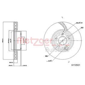 Disco freno Spessore disco freno: 31,8mm, N° fori: 5, Ø: 322mm con OEM Numero 204.421.1012