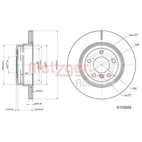 Discos de Freno BMW X5 (E70) 3.0 d de Año 02.2007 235 CV: Disco de freno (6110589) para de METZGER