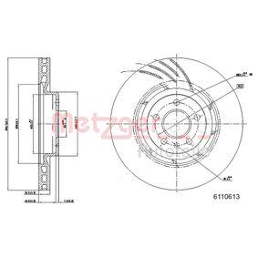 Brake Disc Brake Disc Thickness: 29,4mm, Num. of holes: 5, Ø: 344,5mm with OEM Number 8K0 615 301Q