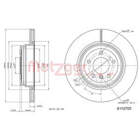 Brake Disc Rear Axle, Ø: 335,8mm, Internally Vented, Coated 6110705