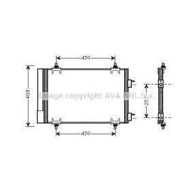 PRASCO  CN5230D Kondensator, Klimaanlage Kältemittel: R 134a