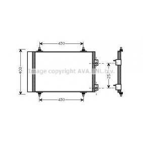 PRASCO  CN5240D Kondensator, Klimaanlage Kältemittel: R 134a