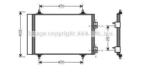 PRASCO  CNA5240D Kondensator, Klimaanlage Kältemittel: R 134a