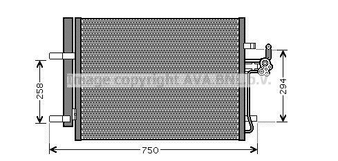 PRASCO  FDA5428D Kondensator, Klimaanlage Kältemittel: R 134a