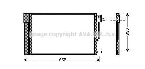 PRASCO  FT5314D Kondensator, Klimaanlage Kältemittel: R 134a