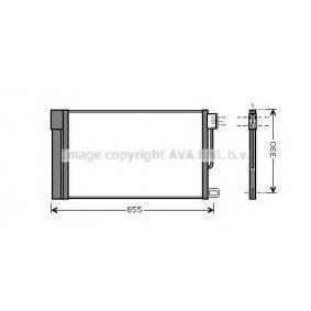 Kondensator, Klimaanlage Kältemittel: R 134a mit OEM-Nummer 39035152