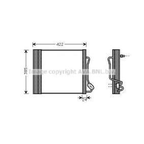 Kondensator, Klimaanlage Kältemittel: R 134a mit OEM-Nummer 0001632V003