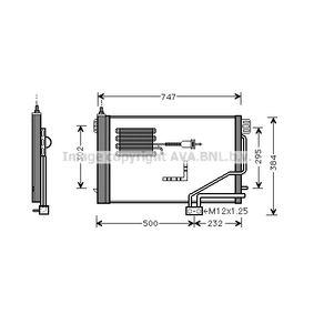 Kondensator, Klimaanlage mit OEM-Nummer 2035001354