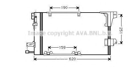 PRASCO  OL5251D Kondensator, Klimaanlage Kältemittel: R 134a