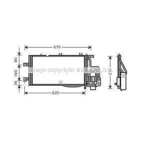 Kondensator, Klimaanlage mit OEM-Nummer 1850 071
