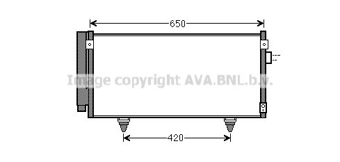 PRASCO  SU5077D Kondensator, Klimaanlage Kältemittel: R 134a