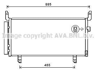 PRASCO  SU5104D Kondensator, Klimaanlage Kältemittel: R 134a