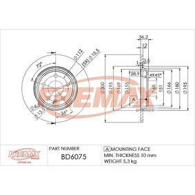 Bremsscheibe Bremsscheibendicke: 12mm, Ø: 300mm mit OEM-Nummer 8K0615601M