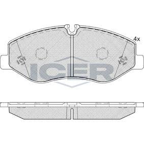 Bremsbelagsatz, Scheibenbremse Höhe: 74,9mm, Dicke/Stärke: 21mm mit OEM-Nummer 4474200220