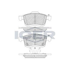 Bremsbelagsatz, Scheibenbremse Höhe 2: 71,6mm, Höhe: 69,1mm, Dicke/Stärke: 20mm mit OEM-Nummer 6 821 148 8AA