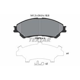 Bremsbelagsatz, Scheibenbremse Breite: 141,9mm, Höhe: 54,9mm, Dicke/Stärke: 16,8mm mit OEM-Nummer 5581061M01