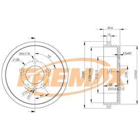 Bremstrommel Trommel-Ø: 240mm, Felge: 5-loch mit OEM-Nummer 6Q0 609 617