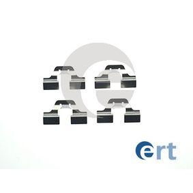 ERT Zubehörsatz, Scheibenbremsbelag 420007 für AUDI 100 (44, 44Q, C3) 1.8 ab Baujahr 02.1986, 88 PS