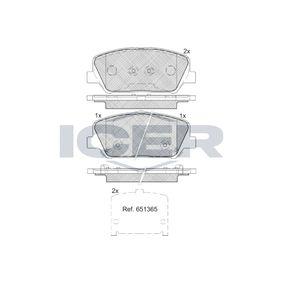 Bremsbelagsatz, Scheibenbremse Höhe: 60mm, Dicke/Stärke: 17,6mm mit OEM-Nummer 58101-2VA20