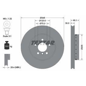TEXTAR PRO+ 92265725 Bremsscheibe Bremsscheibendicke: 30,0mm, Ø: 348mm