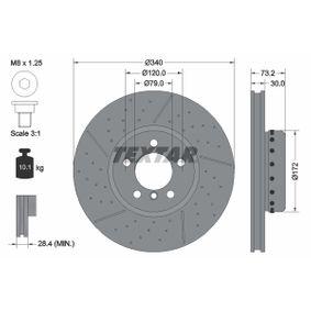 Brake Disc Brake Disc Thickness: 30mm, Ø: 340mm with OEM Number 34116797602