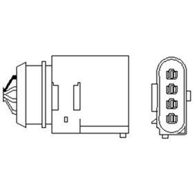 Lambdasonde Kabellänge: 505mm mit OEM-Nummer 06A 906 262BG