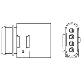 Lambdasonde Kabellänge: 350mm mit OEM-Nummer 06A 906 262 AS