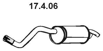 EBERSPÄCHER  17.4.06 Endschalldämpfer Länge: 970mm, Länge: 970mm