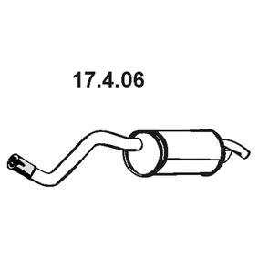 Endschalldämpfer 17.4.06 TWINGO 2 (CN0) 1.2 Turbo Bj 2010