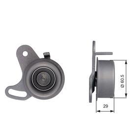 Tensioner Pulley, timing belt Ø: 60,5mm with OEM Number 24410 26000