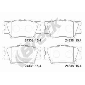 Bremsbelagsatz, Scheibenbremse Höhe: 49.3mm, Dicke/Stärke: 15.4mm mit OEM-Nummer 044 66Y ZZE8